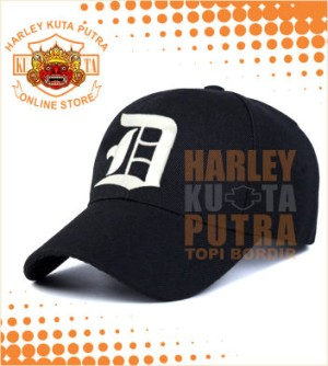 Topi Bikers Touring Topi bordir Alphabets D forTopi Baseball warna Hit