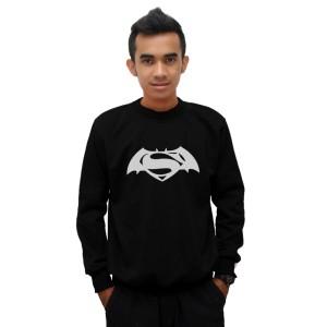 Sweater Batman V Superman 'Dawn Of Justice' - Hitam - DEALDO MERCH