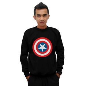 Sweater Captain America - Hitam - DEALDO MERCH