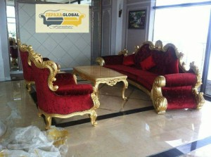 kursi tamu luxury gold ( kursi makan,meja makan,lemari,dipan,nakas )