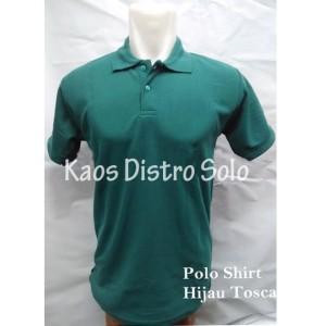 Polo Shirt/ Kaos Kerah//T Shirt Polo/Kaos Polo Hijau toska