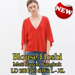 FG - [Blouse Hoshi SW] blouse wanita rayon bankok oranye