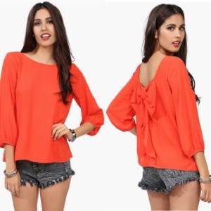 FG - [ Blouse Irene SW] pakaian wanita blouse warna orange