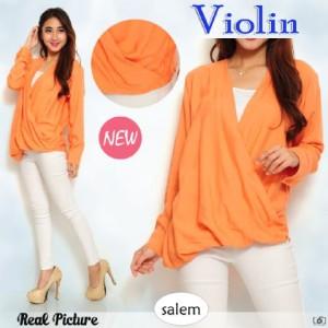 FG - [ Blouse Violin SW] pakaian wanita blouse korea warna salem
