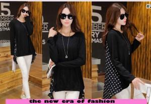 FG - [blus tasya CR] blouse wanita spandex hitam