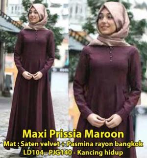 FG - [ Maxy Prissia Maroon SW] pakaian wanita muslim