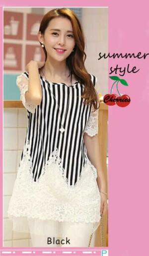 FG - [blus celiana CR] blouse wanita spandex putih