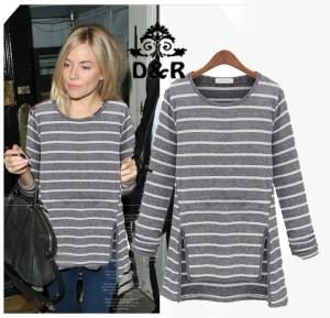 FG - [blus lindsay DR] blouse wanita spandek abu
