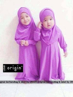 FG - [bergo nadia kids] baju muslim anak maxi dress+bergo