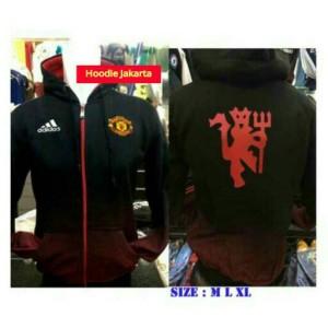 jaket hoodie manchester united