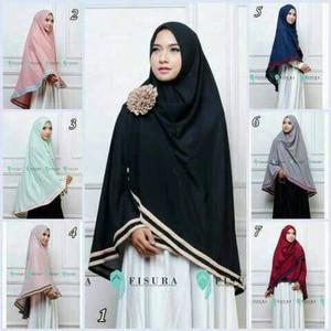 DISKON KEREN Jilbab Instan kerudung Hijab Syari Khimar Fisura Jumbo