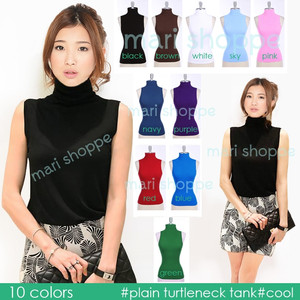 Turtleneck Tank Top (Standard Size Fit to M) ..