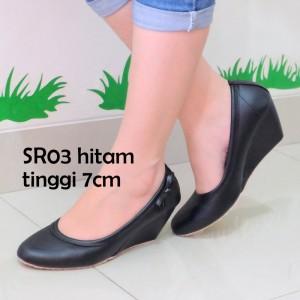 Sepatu Wanita Wedges Sr03 Kulit Sintetis