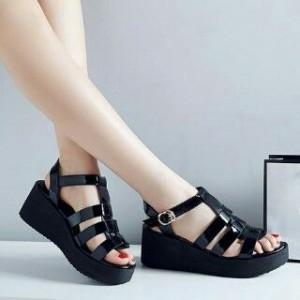 Sepatu Wanita Wedges Murah Sdw1075 Hitam