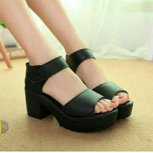 Sepatu Wanita Wedges Bd13 Hitam