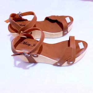 Sepatu Wanita Wegdes Rg01 Hitam Coklat Mocca