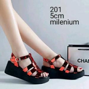 Sepatu Wanita Wedges Murah Sdw1075 Merah