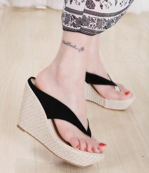 Sepatu Wanita Wedges Murah Japit / Gws-1098 Hitam