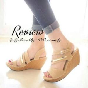 Sepatu Wanita Wedges Rvw Ad 1055 Cream