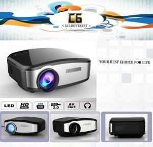 Proyektor CHEERLUX C6 Mini LED Projector 800x480 1200Lm EU Plug