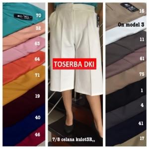 Kulot Pendek 3R bahan Scuba Premium Celana Wanita Big Jumbo XXXL CW20