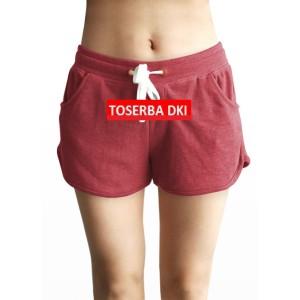 Morning Whistle Women Celana Pendek Lounge Shorts - Red CW37