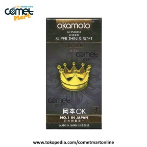 KONDOM OKAMOTO   CROWN, Super Thin & Super Soft - 10 pcs