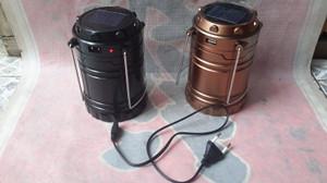 Lampu lentera3 sumber power (tenaga solar, cas listrik dan batrei AA)