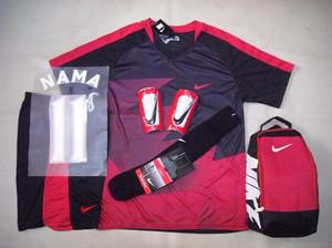 Setelan Baju Futsal Bola Nike Printing Venom Black Red