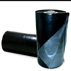 Plastik Mulsa Hitam Perak Plastik pertanian Tebal 0.08mm Lebar 200cm