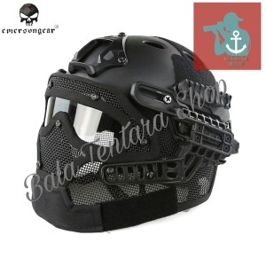 Helm Emerson HI-20-PJ BLACK/helm airsoft /helm full face/helm Paintbal