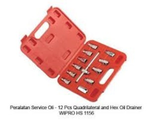 Wipro 12pcs Quadrilaterial and Hex Oil Drainer Wipro HS1156