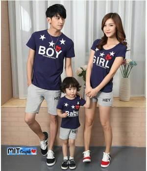 FAMILY COUPLE BOY N GIRL NAVY