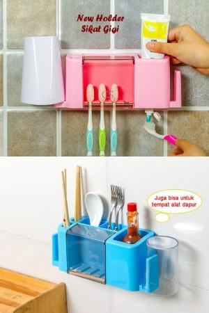 PROMO NEW tooth brush holder rack / organizer rak sikt gigi sabun odol