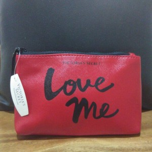 make up pouch victoria secret safiano red
