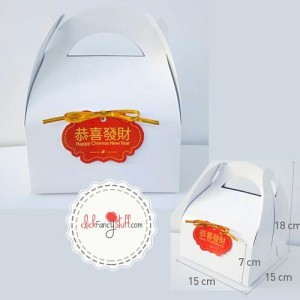 White gable box / snack dus tag chinese new year