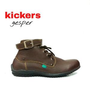 Sepatu Pria Loafers KICKERS Gesper Casual