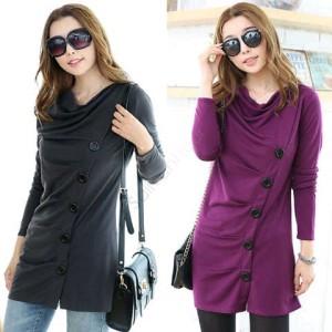 FG - [T shirt button HO] blouse wanita spandek warna hitam