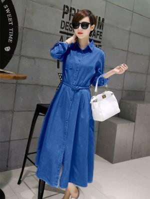 FG - [Maxi dress eva bca HO] maxi wanita denim biru