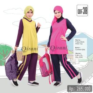Setelan Training Muslim Wanita Modis Sporty Baju Olahraga Fresh QDF 38