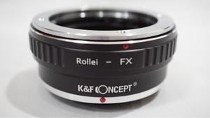 K&F Lens Adapter , Rollei QBM Lens To Fuji FX Mount / Rollei - FX