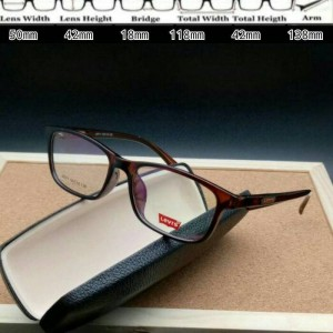 Frame Kacamata Levis 8071 Brown Glossy Kacamata Fashion