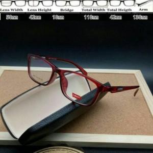 Kacamata Levis 8071 Red Glossy Smoke Frame Kacamata murah berkualitas