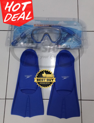 Set Snorkeling Yajie dan Kaki Katak Fin Speedo Mantap