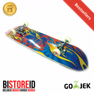 Silverfox Skatebord 100% Maple Blue Red Fire