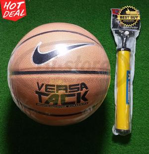 Bola Basket Nike Versa Tack / True Grip Brown Mantap + Pompa murah