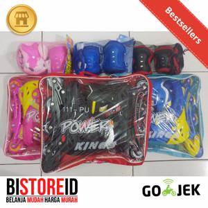Sepatu Roda + Protector Power Kings Ban Karet Full Batok Aman