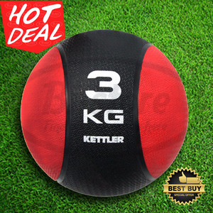 MEDICINE BALL BOLA KETTLER 3 KG ( ORANGE ) ORIGINAL