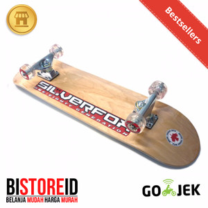 Silverfox Skateboard Natural Wood 100% Canadian Maple Lengkung
