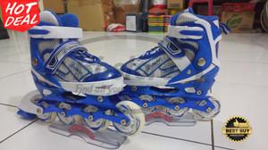 Sepatu roda Braman Ban Karet Jahit Biru